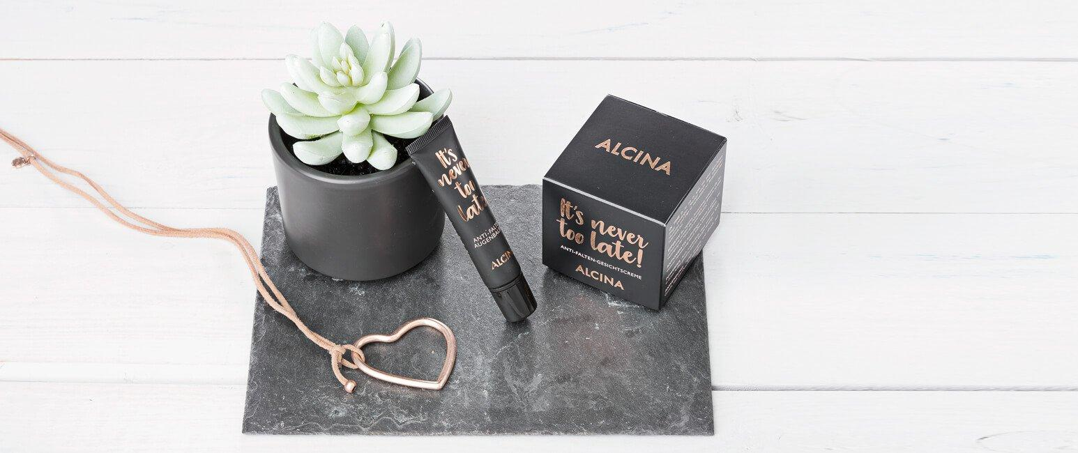 Alcina - its never too late product range shot